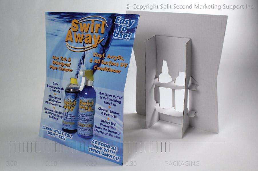 Swirl Away Easel Card POS Merchandiser Display