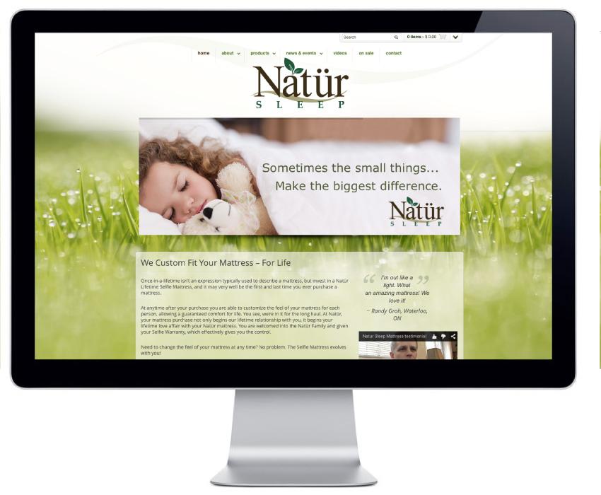 natur-sleep-web-store-wordpress-website