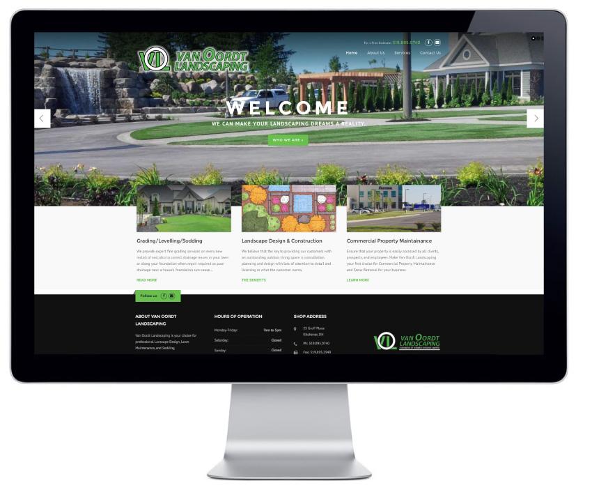 van-oordt-landscaping-wordpress-website